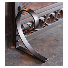 6c469e985e7 Scrollwork Single Panel Iron Fireplace Screen