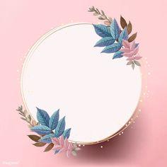Flower Background Wallpaper, Framed Wallpaper, Flower Backgrounds, Background Patterns, Vintage Backgrounds, Logo Online Shop, Whatsapp Logo, Leaf Illustration, Floral Logo