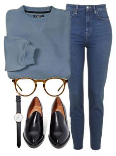 """Untitled #5699"" by laurenmboot ❤ liked on Polyvore featuring Oliver Peoples, Jeffrey Campbell and Daniel Wellington"