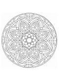 Mandala  44 - Coloring page - MANDALA coloring pages - Mandalas for EXPERTS