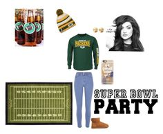"""Super Bowl party"" by kaitlyn-ogg on Polyvore featuring River Island, UGG Australia, Casetify, Eddie Borgo, women's clothing, women, female, woman, misses and juniors"