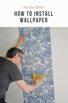 Rambling Renovators: Office Progress and Wallpaper Hanging Tips Upcycled Crafts, Diy And Crafts, Diy Home Decor Projects, Craft Projects, How To Apply Wallpaper, Diy Ideas, Craft Ideas, Diy Gift Box, Do It Yourself Projects