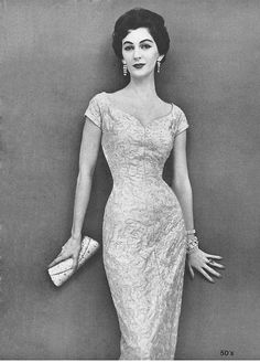Dovima in a Jerry Gilden dress by 50'sfan, via Flickr