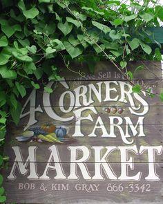 sustainable farm market sign