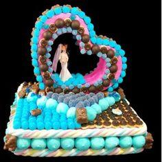 Gâteau de bonbons Mariage Nous Deux