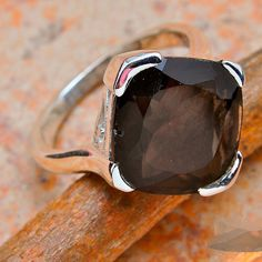 smoky quartz 925 sterling silver by Metamorphosis313 on Etsy, $34.99