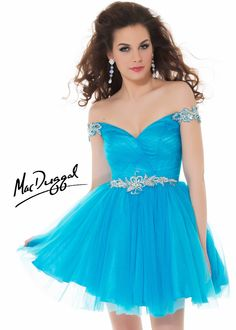 Free Shipping on New Mac Duggal 64506N blue beaded short homecoming dresses available at RissyRoos.com.