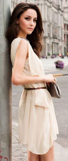 Sheer Ivory Dress.