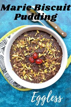 Eggless Marie biscuit pudding is a no bake dessert. It is very easy to make and needs only 7 ingredients. Fun Easy Recipes, Delicious Dinner Recipes, Lunch Recipes, Breakfast Recipes, Vegetarian Recipes, Easy Meals, Healthy Recipes, Yummy Recipes, Healthy Food