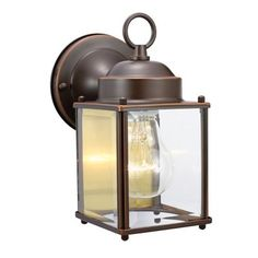 Design House 506576 Coach Outdoor Sconce, Oil Rubbed Bronze