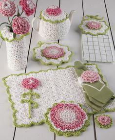 Carnation Kitchen Set Crochet Pattern-