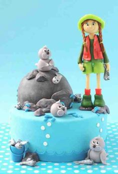 Sea lions cake By ons boek.....somebody should make this for my birthday someday