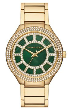 MICHAEL Michael Kors 'Kerry' Crystal Accent Bracelet Watch, 38mm available at #Nordstrom