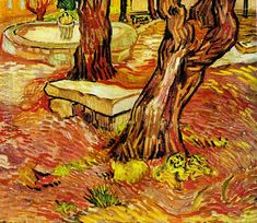 The Stone Bench In The Garden Of Saint Paul Hospital Vincent Van Gogh Reproduction | 1st Art Gallery