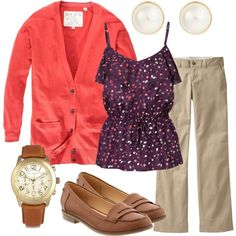Teacher outfit! Love the loafers