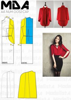 Discover thousands of images about ModelistA: NUM 0062 CAPE Diy Clothing, Sewing Clothes, Dress Sewing Patterns, Clothing Patterns, Fashion Sewing, Diy Fashion, Costura Fashion, Cape Pattern, Sew Pattern