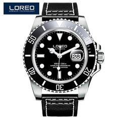 79.00$  Buy here  - LOREO Germany watches men luxury automatic self-wind waterproof 200M yacht oyster perpetual master relogio masculino 116660