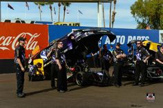 Jack Beckman & Crew At the 2015 Phoenix nationals in the T/F Infinite heroes Funny Car.