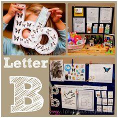 Raising Rock Stars Preschool ~ Letter B - 1 Plus 1 Plus 1 Equals 1 Preschool Letter B, Letter B Activities, Preschool At Home, Preschool Kindergarten, Preschool Activities, Early Learning, Kids Learning, Letter Of The Week, Learning Letters