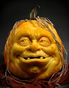 Pumpkin Art: Ray Villafane allows us to bring you these awesome pumpkin carvings to help inspire when you break out the knife for this year's Halloween. Awesome Pumpkin Carvings, Pumkin Carving, Pumpkin Carving Patterns, Food Carving, Carving Tools, Art Halloween, Holidays Halloween, Halloween Pumpkins, Happy Halloween