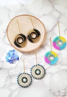 Seed Bead Earrings, Beaded Earrings, Earrings Handmade, Seed Beads, Beaded Jewelry, Crochet Earrings, Hoop Earrings, Wedding Accessories, Wedding Jewelry