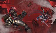 League of Legends: Vi, Piltover Enforcer by ChrisBjors