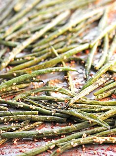 Coconut Milk Roasted Green Beans Recipe | She Wears Many Hats