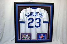 14367187e7d5a Ryne Sandberg Jersey along with game pic and logo for our local Cubbies Fan!