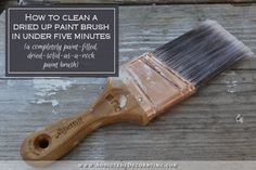 how to remove paint from dried up paint brushes in five minutes