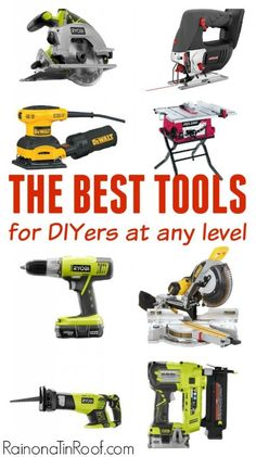 This is exactly what I've been looking for! It gives a list of power tools, broken down by skill level. These are all the ones she's used over and over and loves! The best power tools for DIYers.