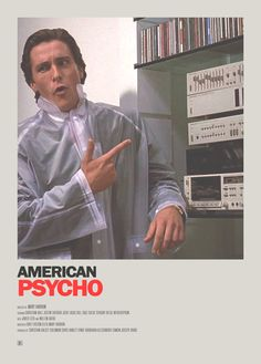 Christian Bale in American Psycho is pure genius. Scary Movies, Great Movies, Horror Movies, Christian Bale, Movies Showing, Movies And Tv Shows, Movie Shots, Kino Film, Minimal Movie Posters