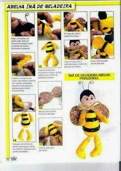 Molde abelhinha tecido e feltro