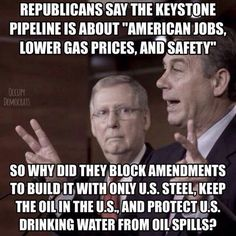 The pipeline does absolutely nothing for America. It's being forced on Native American land because white people didn't want the danger in their neighborhoods.