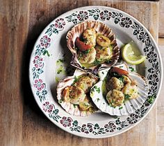 Coquilles St Jacques à la Provençale - get recipe here:  http://www.dailymail.co.uk/femail/food/article-3681148/Elizabeth-David-s-French-lessons-Coquilles-St-Jacques-la-Proven-ale.html