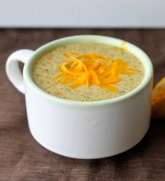 Make your own version of Panera's Broccoli Cheddar Soup with this easy copycat recipe!