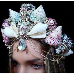 mermaid crowns on Tumblr ❤ liked on Polyvore featuring mermaid