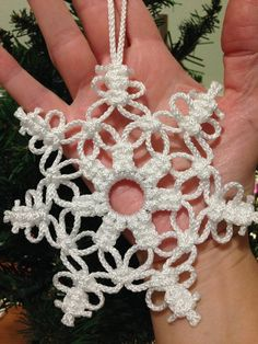 Items similar to snowflake ornament, set of 2 of your choice on Etsy – christmas decorations Diy Christmas Fireplace, Diy Christmas Snowflakes, Snowflake Decorations, Crochet Christmas Ornaments, Crochet Snowflakes, Snowflake Ornaments, Snowman Ornaments, How To Make Ornaments, Snowflake Snowflake