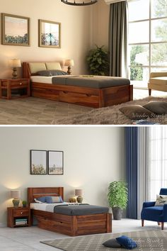 Buying single bed can be the best for you if you sleep alone. Wooden Street is undoubtedly the best place to buy wooden single beds online in India because we offer the facility to customize your solid wood single bed according to your requirements like dimensions and design. Also, all our single beds are built with solid wood which is known for delivering robustness. Single Beds With Storage, Wooden Street, Sleeping Alone, Beds Online, Bed Storage, Bedroom Furniture, The Good Place, Solid Wood, India