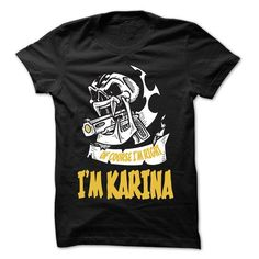 Of Course I Am Right I Am KARINA ... - 99 Cool Name Shi - #gifts for guys #birthday gift. WANT THIS => https://www.sunfrog.com/LifeStyle/Of-Course-I-Am-Right-I-Am-KARINA--99-Cool-Name-Shirt-.html?68278