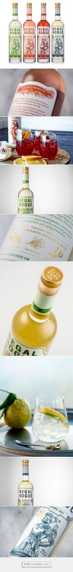 Regal Rogue wine packaging designed by Squad Ink, Design Studio - http://www.packagingoftheworld.com/2015/11/regal-rogue.html