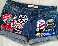 Patched Denim / Hand Reworked Vintage Jean by Joyjean645Vintage