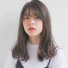 New Short Hair Korean Color Haircuts Ideas Korean Long Hair, Asian Short Hair, Asian Hair, Short Hair Korean Style, Korean Haircut Medium, Medium Hair Cuts, Long Hair Cuts, Medium Hair Styles, Short Hair Styles