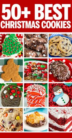 50 Tried and True Christmas Cookie Recipes! Everything you need for a holiday cookie exchange or cookie platter. 50 Tried and True Christmas Cookie Recipes! Everything you need for a holiday cookie exchange or cookie platter. Easy Christmas Cookie Recipes, Christmas Cookie Exchange, Best Christmas Cookies, Delicious Cookie Recipes, Holiday Cookies, Christmas Fun, Holiday Recipes, Baking Recipes, Christmas Classics