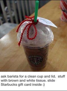 Starbucks gift card.