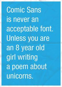 Confessions of a Designer Comic Sans Quote Poster
