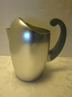 Kensington Ware Aluminum Pitcher w Art Deco Handle Mid Century RARE Retro | eBay $98