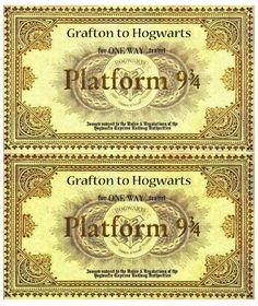 Train Tickets to Hogwarts Harry Potter Nails, Cumpleaños Harry Potter, Harry Potter Birthday, Harry Potter Universal, Harry Potter Christmas Decorations, Harry Potter Christmas Tree, Hogwarts, Harry Potter Fiesta, Harry Potter Journal