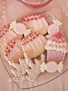 Pretty Pink Sugar Cookies  So cute for a girls birthday
