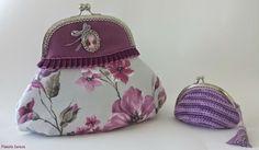 Planeta Cereza: DIY: Bolso con boquilla vintage y Monedero de crochet