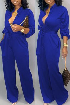 Spoil yourself with our latest looks! Blue Jumpsuits, Jumpsuits For Women, Green Fashion, White Fashion, Rompers Dressy, Jumpsuit With Sleeves, Black Jumpsuit, Fashion Outfits, How To Wear